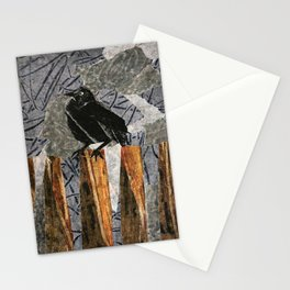 Black Bird on a Gray Day Stationery Cards