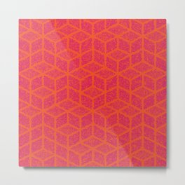 Kenna (Rubine Red and Orange) Metal Print