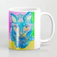 kitty Mugs featuring KITTY by Nizhoni Creative Studio