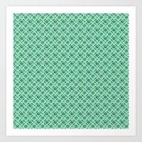Green Brassicas Art Print