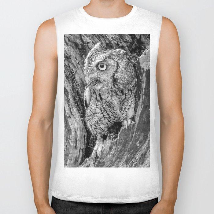 Echo the Screech Owl by Teresa Thompson Biker Tank