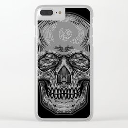 Dead Skull Clear iPhone Case