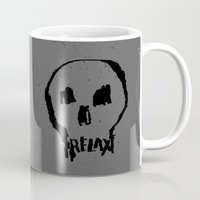 relax Mugs featuring RELAX by Josh LaFayette