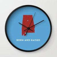 alabama Wall Clocks featuring Alabama by Hunter Ellenbarger