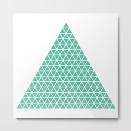 Geometric shape t-shirts & prints: Triangle (Tri x Tri) Multiple colours available... Metal Print