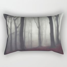 bonds - foggy forest scene Rectangular Pillow