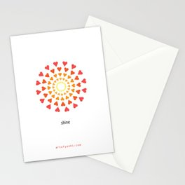 """shine"" Stationery Cards"