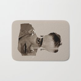 FRIDA - SHIRT version - sepia Bath Mat