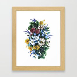 United States of Wildflowers Framed Art Print