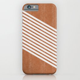 Mid Century Modern Abstract Lines Left iPhone Case