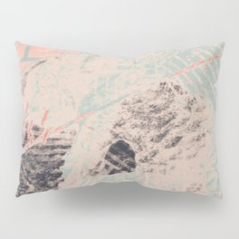 Industry: mixed media | digital | street art | abstract | blue | coral | gray | pink | pattern | Pillow Sham