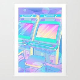 Pastel Glitch Art Print