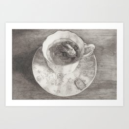Teacup Octopus Art Print