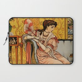 Belle Beauty and the Beast illustration Laptop Sleeve