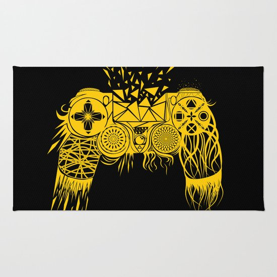 Out of controller rug by rendra sy society6 Controller rug