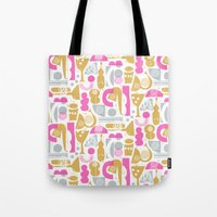 funky Tote Bags featuring funky jazz by ottomanbrim