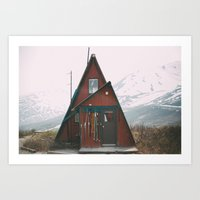 Ski Lodge in Hatchers Pass, AK Art Print