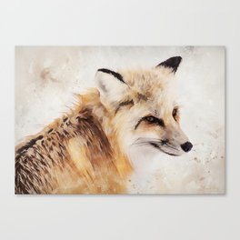 Painted Fox Canvas Print