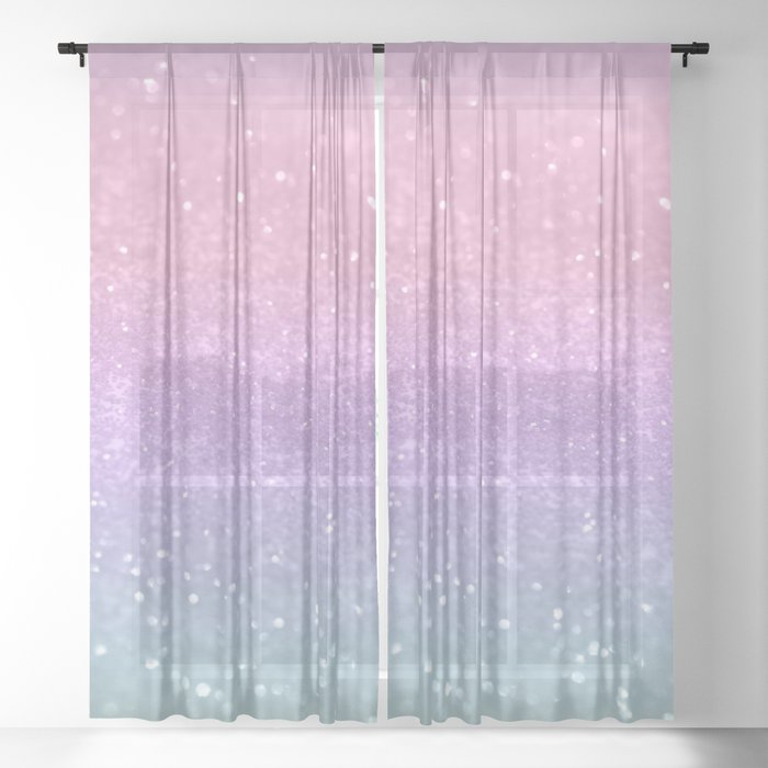 Unicorn Princess Glitter #1 (Photography) #pastel #decor #art #society6 Sheer Curtain