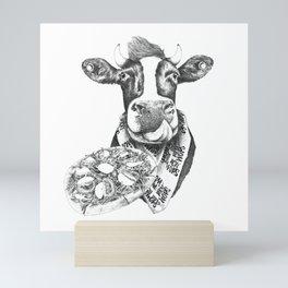 Picky Moo Mini Art Print