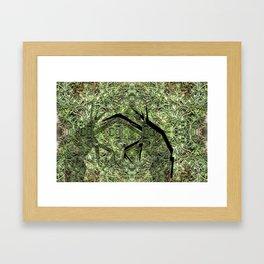 Grass Hoppers Framed Art Print