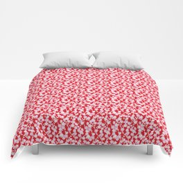 Red Cherry Blossom Pattern Comforters