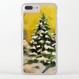 Neighborhood Trees Clear iPhone Case