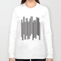 skyline Long Sleeve T-shirts featuring Skyline by The New Minimalist