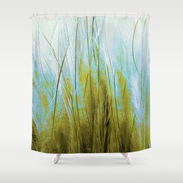 Feather Grass Abstract Shower Curtain