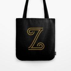 Mocha Script Z Drop Cap Tote Bag