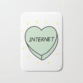 Internet heart Bath Mat