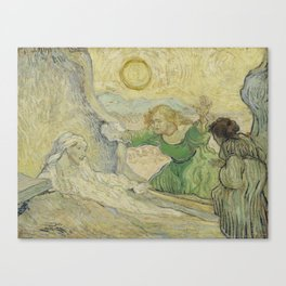 The Raising of Lazarus (after Rembrandt) Canvas Print