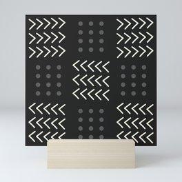 Black Pattern Mini Art Print