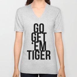Go Get 'Em Tiger Unisex V-Neck
