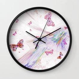 """""""Flash Dream ~ Butterflies"""" Wall Clock"""