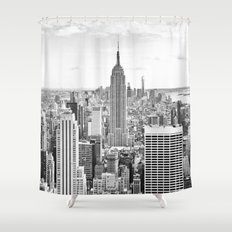 new york city manhattan black u0026 white shower curtain