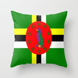 . Flag of Dominica Throw Pillow