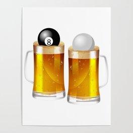Billiard Pool - Beer 8 Ball Poster