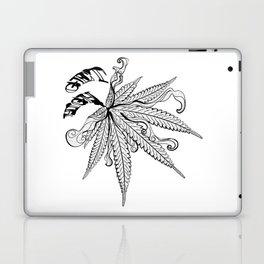 Marijuana leaf with smoke Laptop & iPad Skin