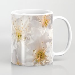 White Cherry Blossoms Pattern Coffee Mug