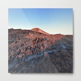 Sleepy Volcano Sunrise Metal Print