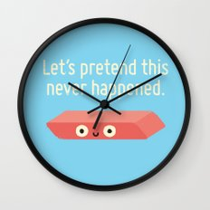 Missing the Mark Wall Clock
