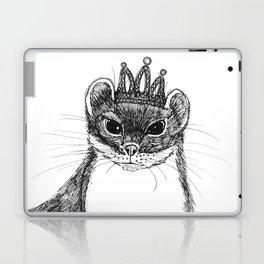 flapper weasel wearing a glittering tiara Laptop & iPad Skin