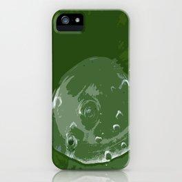 Waterdrop on Green iPhone Case