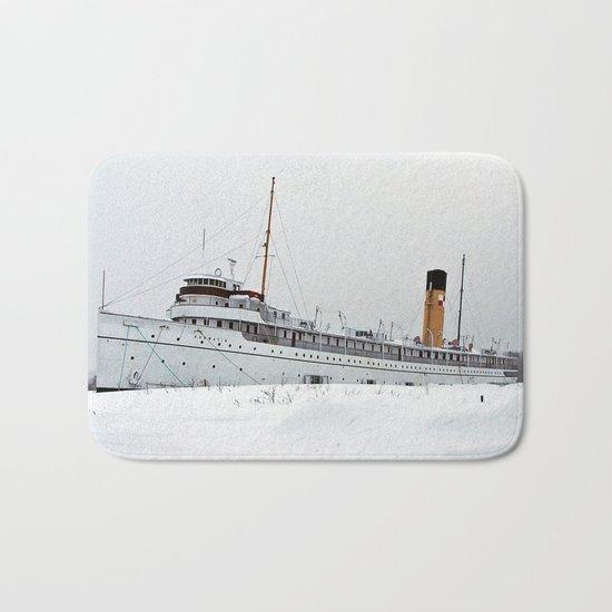 SS Keewatin in Winter White Bath Mat
