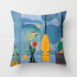 Henri Matisse Blue Window Throw Pillow