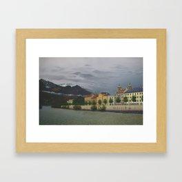 Innsbruck from River Inn Bridge Framed Art Print