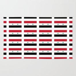 flag of syria -syrian,aleppo,damascus,assyrian,سوريا Rug
