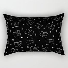 Classic Books Black and White Rectangular Pillow