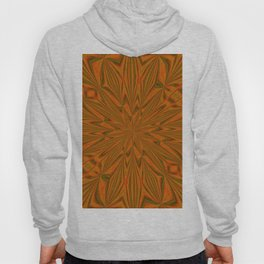 Autumnal Leaves Red Green and Amber Abstract Kaleidoscope Hoody